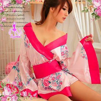 薇珍妮  粉色漣漪!二件式絕美和服組