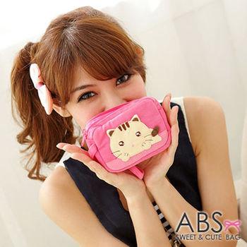 【ABS貝斯貓】水汪汪貓咪小錢包 零錢包 粉色88-112