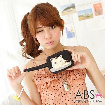 【ABS貝斯貓】水汪汪貓咪小錢包 零錢包 黑色88-112