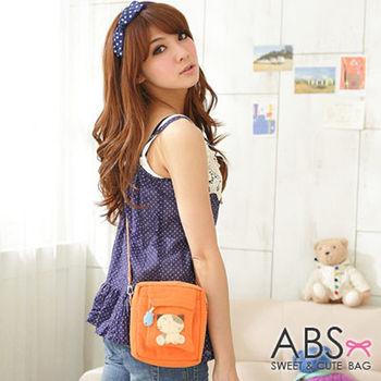 【ABS貝斯貓】小小貓咪拼布包 斜背包 橘色88-036