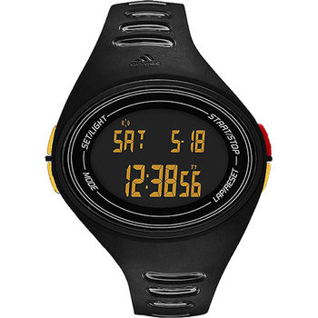 adidas adizero 運動活力電子腕錶-黑ADP6133