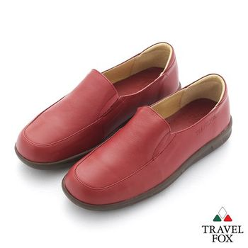 Travel Fox(女) 旅狐休閒鞋 軟式直套休閒鞋 - 紅