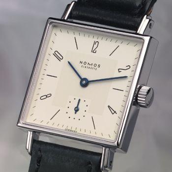 NOMOS Tetra Gross 406 小秒針腕錶-白/29.5mm