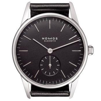 NOMOS Orion Anthrazit 307 小秒針手上鍊機械腕錶-黑/35mm