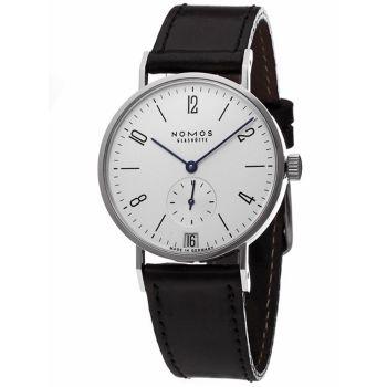 NOMOS Tangente 107 小秒針手上鍊機械腕錶-白/35mm