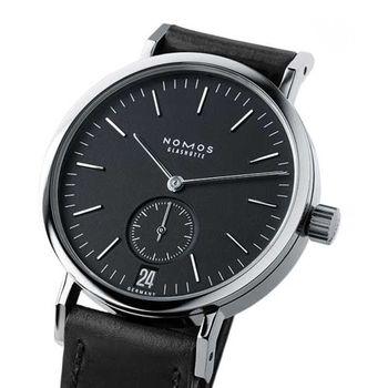 NOMOS Tangente Spor 507 小秒針手上鍊機械腕錶-黑/36.5mm