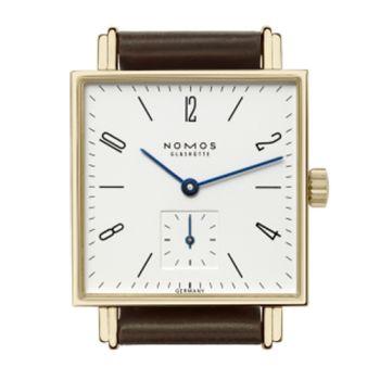 NOMOS Tetra GOLD 411 手上鍊機械腕錶-18K金框/27.5mm