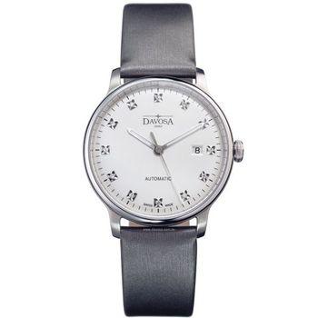 DAVOSA 161.515.85 先鋒系列超薄機械腕錶-白x灰色錶帶/40mm