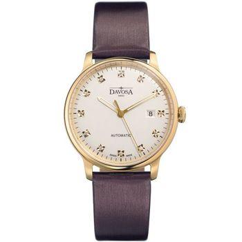 DAVOSA 161.516.65 先鋒系列超薄機械錶-PVD金框x深紫錶帶/40mm