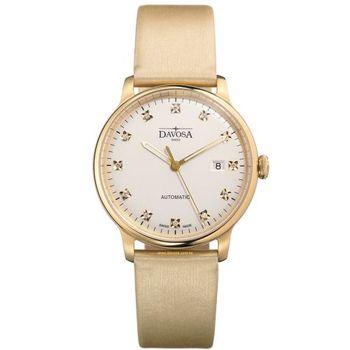 DAVOSA 161.512.35 先鋒系列超薄機械腕錶-白xPVD金框/40mm