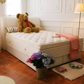 TOTOMI 子母床乳膠正四線蜂巢獨立筒3.5尺單人床墊