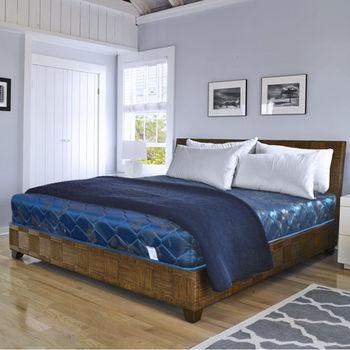 【時尚屋】 緹花蓆面5尺雙人硬式彈簧床墊Q1-005可選色