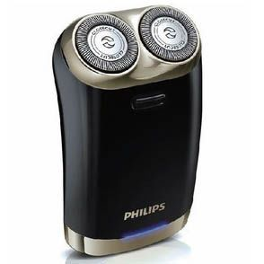 【飛利浦PHILIPS】USB充電式雙刀頭電鬍刀禮盒組 HS199