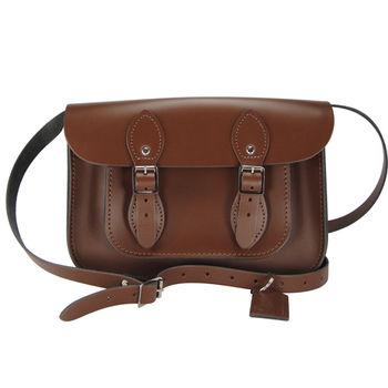 【The Leather Satchel Co.】11吋 英國手工牛皮劍橋包(栗木棕)