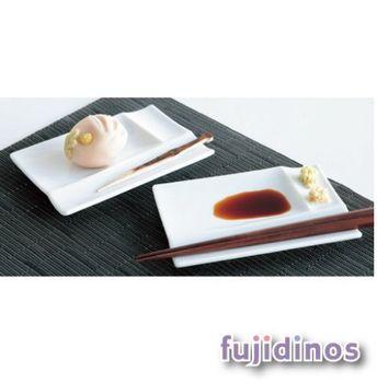 【美濃燒】白磁筷架調味皿四件組-白色