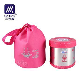 【三光牌】台灣製 溫心不銹鋼真空保溫飯盒/食物罐-0.5L(M-500B)