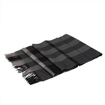 BURBERRY 經典方格紋喀什米爾羊毛披肩/圍巾(200CM-深木炭灰)37667701-DARK-CHARCOAL-CHECK
