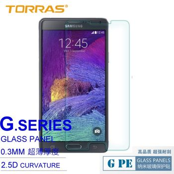 【TORRAS圖拉斯】SAMSUNG GALAXY Note 4 N9100 鋼化玻璃貼 G PE 系列 9H硬度 2.5D導角 加送面條線