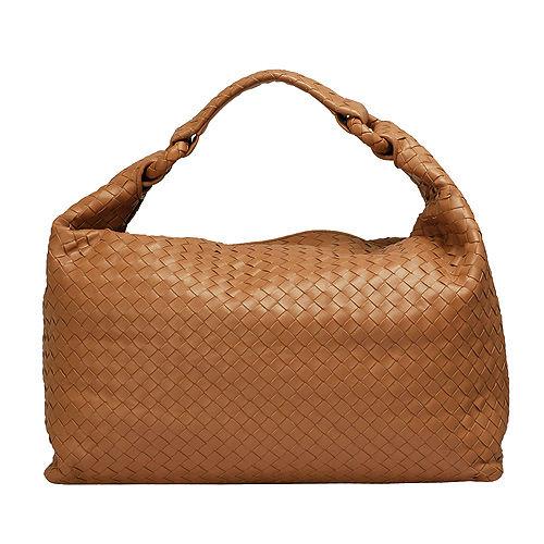 BOTTEGA VENETA經典Walnut編織小羊皮肩背包(淺咖啡)172918-2510
