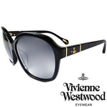 Vivienne Westwood 英國薇薇安魏斯伍德經典土星蕾絲雕花太陽眼鏡(黑) VW85101