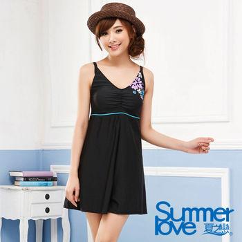 【SUMMER LOVE夏之戀】顯瘦款連身褲裙二件式泳衣加大碼E14712
