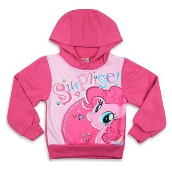 【彩虹小馬】厚絨內刷毛連帽長袖T恤(粉紅色)