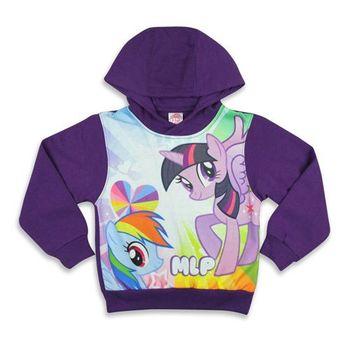 【彩虹小馬】厚絨內刷毛連帽長袖T恤(紫色)