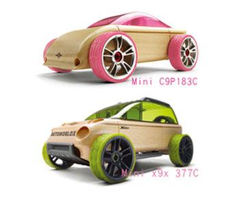 AUTOMOBLOX 德國原木變形車 mini C9P+X9X
