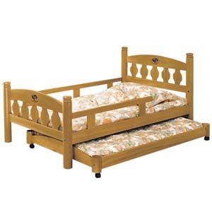 【日式量販】美式3.5尺實木子母床架