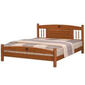 【日式量販】復古鄉村風5尺實木雙人床架