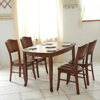 【日式量販】經典4.2尺實木餐桌