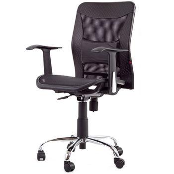 吉加吉 皮面短背 全網椅 電腦椅 TW-044