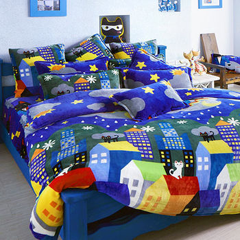【Fancy Belle X Malis】房間裡的遊戲 雙人四件式雪芙絨被套床包組