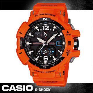 【CASIO 卡西歐 G-SHOCK 系列】旗鑑款飛行錶-推出夏日亮眼橘紅新色(GW-A1100R)