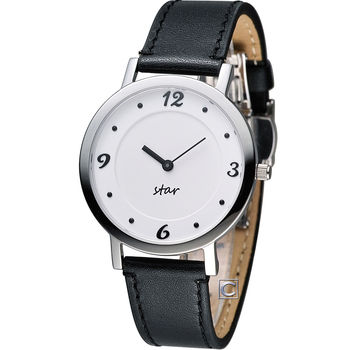 STAR 時代 恣意漫步時尚腕錶 9T1407-331S-W
