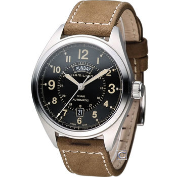 HAMILTON 漢米爾頓 卡其陸戰雙曆機械腕錶 H70505833
