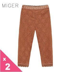 [MIGER密格內衣]蕾絲時尚性感七分內搭褲-紅咖