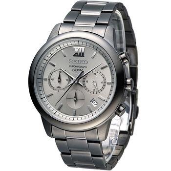 SEIKO 精工 全能時尚計時腕錶 6T63-00N0SD SSB141P1