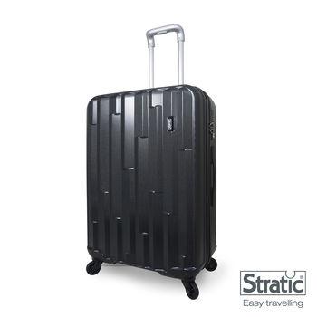 CROWN皇冠/STRATIC 超輕量Cliff系列30吋硬殼四輪霧面行李箱-黑