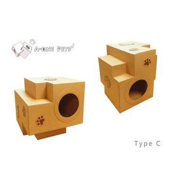 【A-one Pets】多功能貓咪屋-C款(積木造型)