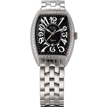 HOGA 皇爵典範酒桶造型時尚腕錶-黑/32mm