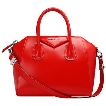 GIVENCHY 經典ANTIGONA系列小牛皮手提/肩背波士頓包(紅)13G5102014-600-RED