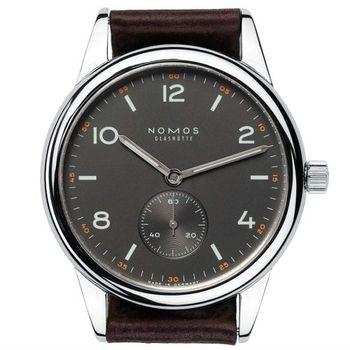 NOMOS 754 Club Date Dunkel 小秒針機械腕錶-黑/41mm