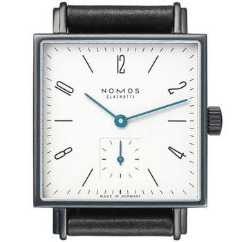 NOMOS 429 Tetra Norma 手上鍊機械腕錶-白xIP黑/29.5mm