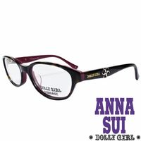 Anna Sui安娜蘇 Dolly Girl系列光學眼鏡 幸運草款‧琥珀 ^#43 紫~D