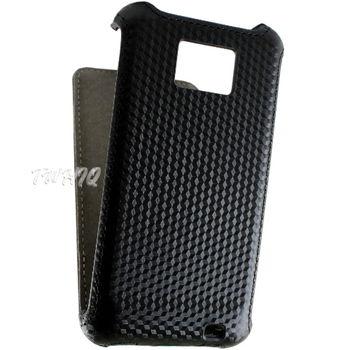 Samsung Galaxy S2 (i9100) 盔甲紋系列下掀式翻蓋手機皮套