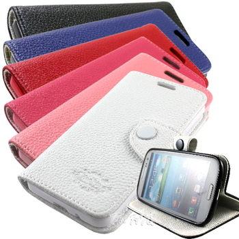 KooPin Samsung Galaxy Premier (i9260) 雙料縫線 側掀(立架式)皮套