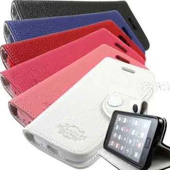 KooPin Samsung Galaxy Ace 2 i8160 雙料縫線 側掀(立架式)皮套