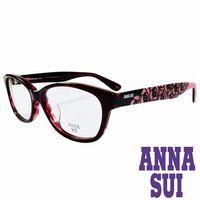 ANNA SUI 安娜蘇浪漫薔薇花紋 眼鏡 ^#40 紅 ^#43 粉紅 ^#41 AS6