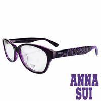 ANNA SUI 安娜蘇 浪漫薔薇花紋 眼鏡 ^#40 紫 ^#41 AS636 ^#45